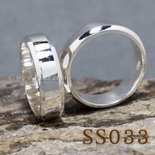 แหวนคู่รัก แหวนเงินเกลี้ยง กว้าง6มิล บ่าแหวนตะไบเฉียง