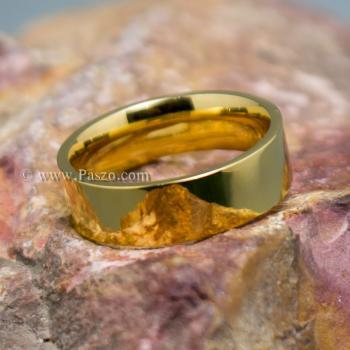 แหวนเกลี้ยง ชุบทอง หน้ากว้าง6มิล #2