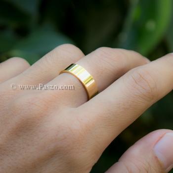 แหวนเกลี้ยง ชุบทอง หน้ากว้าง6มิล #3