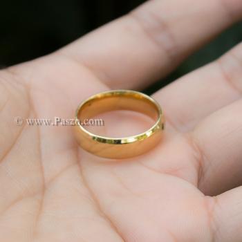 แหวนทองชุบ แหวนเกลี้ยง บ่าแหวนตะไบเฉียง #4