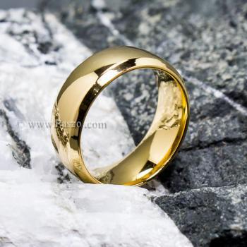 แหวนเกลี้ยง แหวนทองชุบ หน้ากว้าง8มิล #6