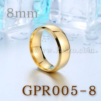 แหวนเกลี้ยง แหวนทองชุบ หน้ากว้าง8มิล #3