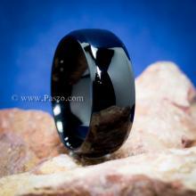 แหวนเกลี้ยง รมดำ หน้ากว้าง8มิล แหวนสแตนเลส บ่าแหวนตะไบเฉียง