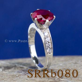 แหวนทับทิม แหวนชูพลอย แหวนเงินแท้ #6