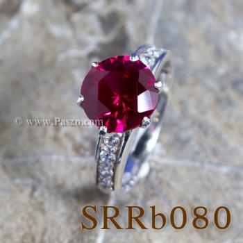 แหวนทับทิม แหวนชูพลอย แหวนเงินแท้ #7