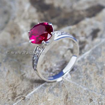 แหวนทับทิม แหวนชูพลอย แหวนเงินแท้ #3