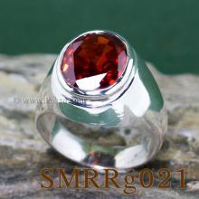 แหวนทรงมอญ แหวนโกเมน แหวนผู้ชาย แหวนเงินแท้ ฝังพลอยสีส้ม แหวนพลอยสีส้ม