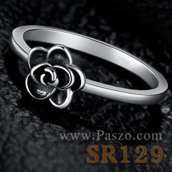 แหวนดอกไม้ ชุดดอกพุดจีบ แหวนเงิน #4
