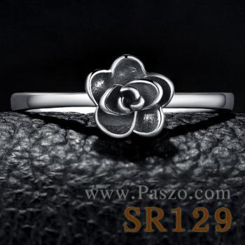 แหวนดอกไม้ ชุดดอกพุดจีบ แหวนเงิน #3
