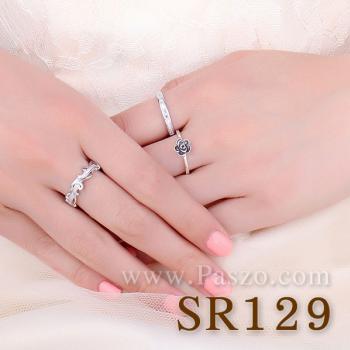 แหวนดอกไม้ ชุดดอกพุดจีบ แหวนเงิน #2