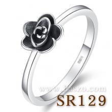แหวนดอกไม้ ชุดดอกพุดจีบ แหวนเงิน มินิมอลสไตล์