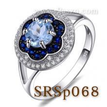 แหวนดอกไม้ แหวนล้อมเพชร แหวนอะความารีน แหวนไพลิน แหวนเงินแท้
