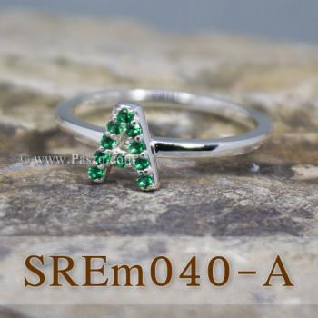 แหวนตัวอักษร แหวนตัวเอ A #3