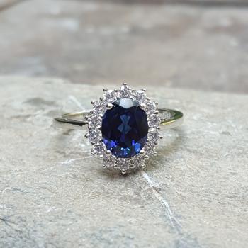 แหวนไพลิน แหวนพลอยสีน้ำเงิน หนามเตยถี่ #6