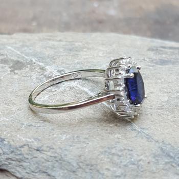 แหวนไพลิน แหวนพลอยสีน้ำเงิน หนามเตยถี่ #7