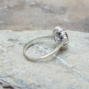 แหวนไพลิน แหวนพลอยสีน้ำเงิน หนามเตยถี่ #8