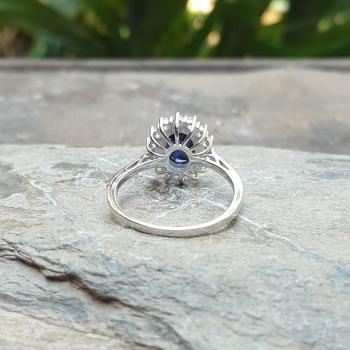 แหวนไพลิน แหวนพลอยสีน้ำเงิน หนามเตยถี่ #9