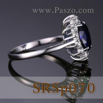 แหวนไพลิน แหวนพลอยสีน้ำเงิน หนามเตยถี่ #4