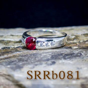 แหวนทับทิม แหวนเงิน พลอยสีแดง #2