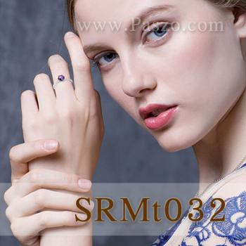 แหวนพลอยสีรุ้ง พลอยเม็ดกลม แหวนเม็ดเดี่ยว #4