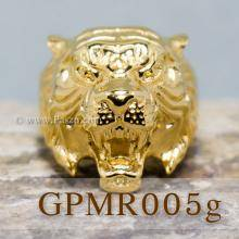 แหวนเสือ แหวนปีขาล แหวนพยัคฆ์ แหวนสแตนเลส ชุบทอง แหวนเทห์ๆ