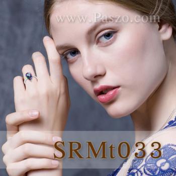 แหวนพลอยสีรุ้ง พลอยหยดน้ำ พลอยโทพาซสีรุ้ง #3