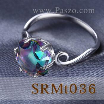 แหวนพลอยสีรุ้ง พลอยรูปดาว แหวนเงิน #4