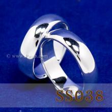 แหวนคู่รัก แหวนเงินเกลี้ยง กว้าง6มิล แหวนหน้าโค้ง แหวนปลอกมีด
