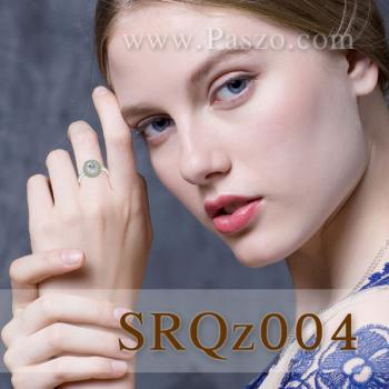 แหวนพลอยเพอริดอท แหวนล้อมเพชร แหวนเงินแท้ #4