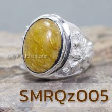 แหวนแก้วไหมทอง แหวนครุฑ แหวนเงินผู้ชาย แหวนเงินแท้ แหวนผู้ชาย แก้วไหมทอง