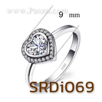 แหวนหัวใจ แหวนเพชร แหวนเงินแท้ #3