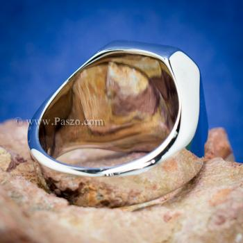 แหวนนิล แหวนผู้ชายพลอยสี่เหลี่ยม แหวนสแตนเลส #3