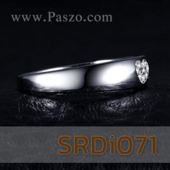 แหวนรูปหัวใจ แหวนเพชร แหวนเงินแท้ #3