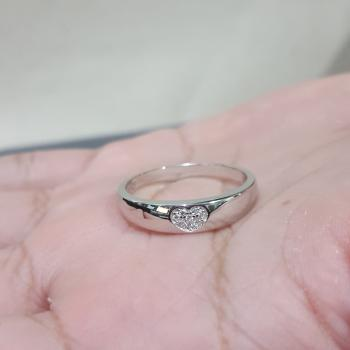 แหวนรูปหัวใจ แหวนเพชร แหวนเงินแท้ #7