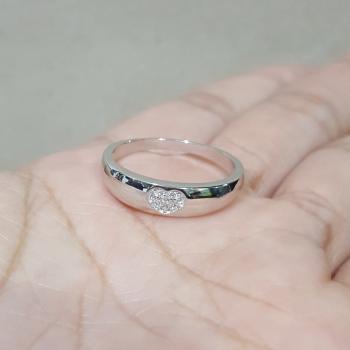 แหวนรูปหัวใจ แหวนเพชร แหวนเงินแท้ #6