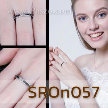 แหวนนิล ประดับเพชร แหวนพลอยแถว #4