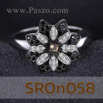 แหวนดอกเยอบีร่า แหวนดอกไม้ นิล #3