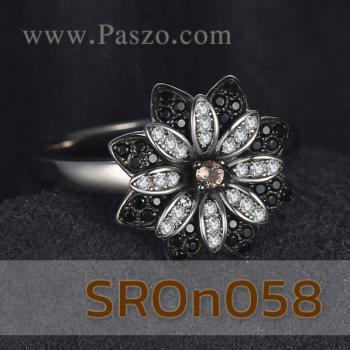 แหวนดอกเยอบีร่า แหวนดอกไม้ นิล #5