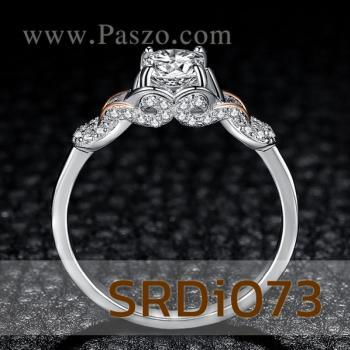 แหวนเพชร แหวนเงิน ฝังเพชร #4