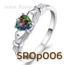 แหวนพลอยโอปอล์ แหวนรูปหัวใจ แหวนแห่งรัก แหวนเงินแท้