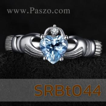แหวนพลอยอะความารีน แหวนรูปหัวใจ แหวนแห่งรัก #4