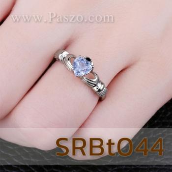 แหวนพลอยอะความารีน แหวนรูปหัวใจ แหวนแห่งรัก #3