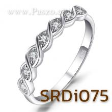 แหวนเพชร พลอย7เม็ด แหวนเงินแท้