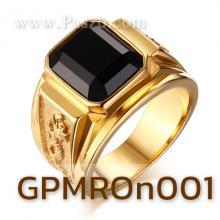 แหวนผู้ชาย พลอยนิล แหวนลายมังกร แหวนทองชุบ แหวนสแตนเลส