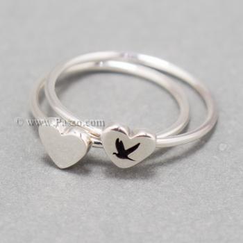 แหวนเงิน หัวใจ แหวนรูปหัวใจ #6