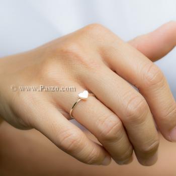 แหวนเงิน หัวใจ แหวนรูปหัวใจ #8