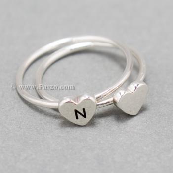 แหวนเงิน หัวใจ แหวนรูปหัวใจ #9