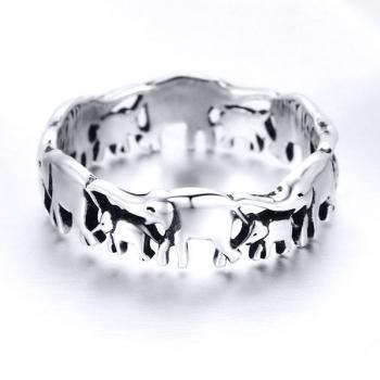 แหวนครอบครัวช้าง แหวนเงินแท้ แหวนช้าง #3