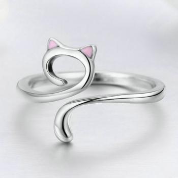แหวนแมว แหวนปรับขนาดได้ แหวนเงิน #3