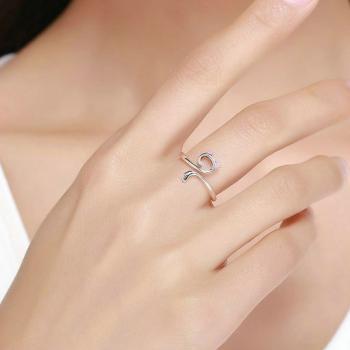 แหวนแมว แหวนปรับขนาดได้ แหวนเงิน #4